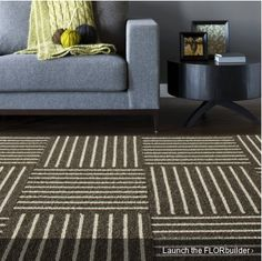 love the new floor squares carpet.  Could we use carpet tiles?