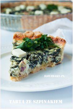 Quiche se špenátem a brokolicí recept - TopRecepty. Quiche, Feta, Eat Happy, Smoked Salmon, Spanakopita, Easter Recipes, Foodies, Vegetarian, Favorite Recipes
