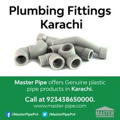 Get the best Plumbing Pipe Fittings with the reasonable prices in karachi. masterpipe offers the top level and durable plumbing services in pakistan. Contact to get the best services at 923438650000.