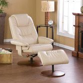 Found it at Wayfair - Urban Leather Ergonomic Recliner. Possible nursery chair.