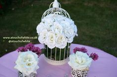 A Touch of White DIY table design using pinks and whites www.atouchofwhite.co.uk