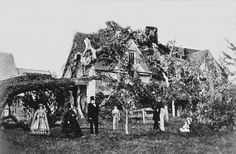 Never a better time for a family photo than when a tree falls on your house