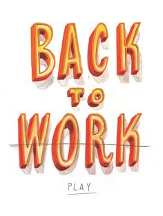Jeff Rogers - Letters - BACK TO WORK
