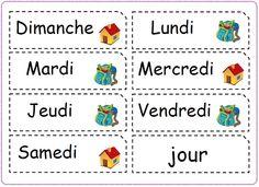 Matériel pour la date - Mitsouko au CP Kindergarten Calendar, Kindergarten Lesson Plans, French Language Lessons, French Lessons, Attendance Chart, Weather Vocabulary, Vocabulary Cards, French Flashcards, Grande Section