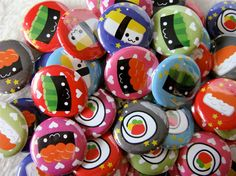 Sushi buttons! So cute and kawaii ;)