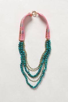 love the mixed materials... Caye Necklace