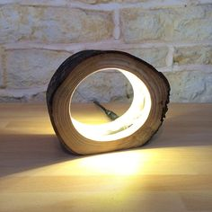 Small LED Log Light Table Lamp Desk Light Real by Uniquelightingco