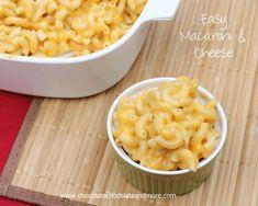 Easy Macaroni and Cheese-Never buy the box stuff again!