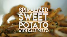 A Must-See, Must-Eat: Spiralized Sweet Potato with Kale Pesto — Video from Kitchn