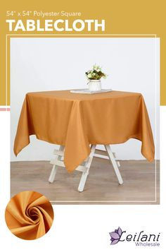 Accent your tables with this polyester square tablecloth for a truly elegant setting! A must-have for your special occasions. #tablecloths #tablesettings