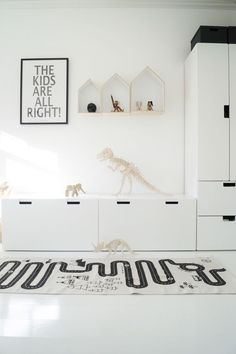 Great storage solution for kids room. Love the dinosaurs!