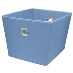 style selections large blue fabric storage bin