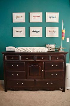 Vintage Airplane Nursery - fun design for a baby boy nursery!
