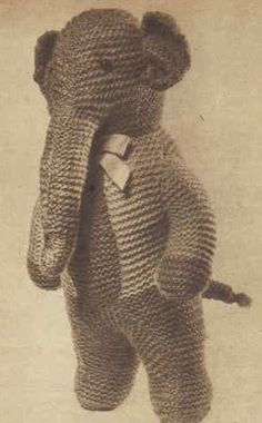 Elephant Teddy Knitting Pattern : 1000+ images about Crafts - Knitting Toys on Pinterest ...