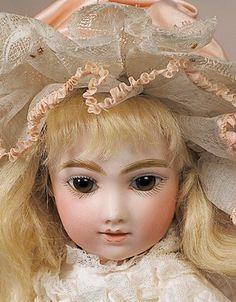 """59: SPLENDID """"A.T."""" FRENCH BISQUE BEBE WITH CAPTIVATING : Lot 59"""
