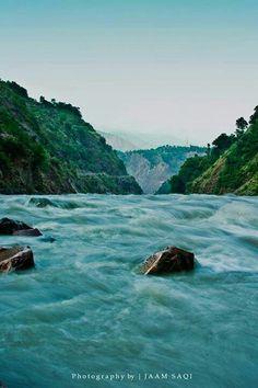 The Neelum River, Azad Kashmir, Pakistan
