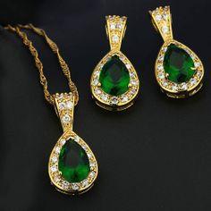 #Online_Shopping #Shopping_Online @ Khoobsurati.com Get Upto 20% Off On #Necklaces http://khoobsurati.com/pdt/jewelora/jewelora-green-elegant-jewelry-set-