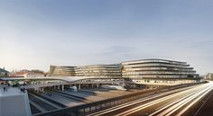 Zaha Hadid Architects: Prague Brownfield Site Regeneration - Archiscene - Your Daily Architecture & Design Update