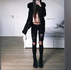 black, clothes, and fashion image via weheartit