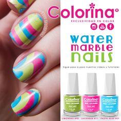 Water Marble Nails Colorina Nail Lacquer