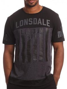 Lonsdale Feldman Tee - black / grey #lonsdale #polo #shirt