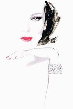 Fashion Illustration by David Downtown for Piaget.