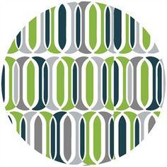 Maude Asbury for blend, Calypso, ovals green