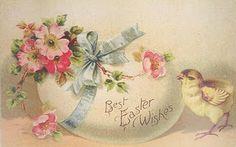Best Easter Wishes...vintage postcard