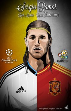 Shared with CloudApp Soccer Art, Football Art, World Football, Football Stuff, Soccer Jerseys, Ramos Real Madrid, Real Madrid Club, Caricatures, Madrid Football Club