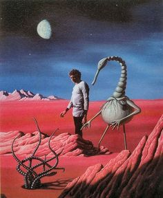 Illustration for the great alien encounter story A Martian Odyssey by Stanley Weinbaum