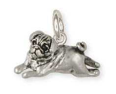 Pug+Dog+Charm+Jewelry++PG29C+by+Efsterling+on+Etsy,+$36.00
