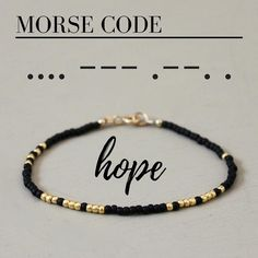 A funny and simple pearl bracelet with the word HOPE in Morse Code!, A funny and simple pearl bracelet with the word HOPE in Morse Code! # every bracelet. Seed Bead Jewelry, Beaded Jewelry, Jewelry Bracelets, Handmade Jewelry, Seed Beads, Handmade Bracelets, Braclets Diy, Seed Bead Bracelets Diy, Seed Bead Art