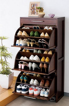 Practical shoe rack design ideas for small houses Futuristic architect . - Practical shoe rack design ideas for small houses Futuristic architect … – Practical shoe rack - Shoe Storage Design, Diy Shoe Storage, Shoe Storage Cabinet, Rack Design, Storage Ideas, Storage Rack, Storage Boxes, Drawer Shelves, Smart Storage