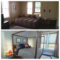 Before and After - the bedroom