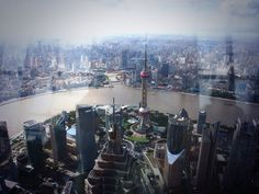Top view of Shanghai.