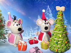 Häkle Dir jetzt die beiden Mäuse im Weihnachtskostüm. Das Mauspärchen wird Dir… Amigurumi, Häkelanleitung, Maus, Weihnachten, Tannenbaum, Kinderspielzeug, Wolle, Geschenk, Deko, Häkeln, Anleitung, Deutsch