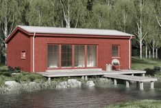 Fritid Modern 65 med loft – Fritidsvillan Beach Cottage Style, Beach Cottages, Cabins, Tennessee, Shed, Garage, Barn, Outdoors, Houses