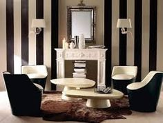 Stripes like this on the inside of the elevator. Black And White Living Room interior design ideas Living Room Interior, Interior Design Living Room, Living Room Designs, Living Rooms, Interior Door, Interior Modern, Apartment Living, Interior Ideas, Living Spaces