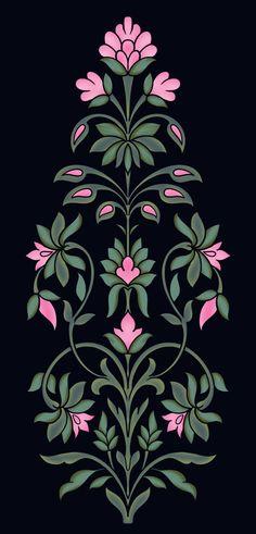 Textile Design, Textile Art, Pattern Art, Pattern Design, Border Design, Monograms, Wallpaper Backgrounds, Embroidery Stitches, Repeat
