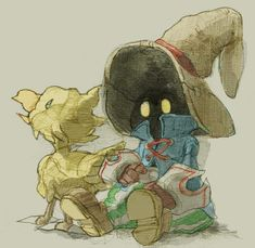 Vivi and Chocobo ||| Final Fantasy IX Fan Art