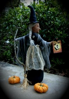 17 best images about Witch Hollow Primitives Halloween Folk Art ...