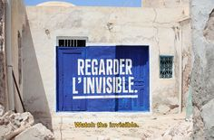 Watch the invisible, public art in Tunisia.