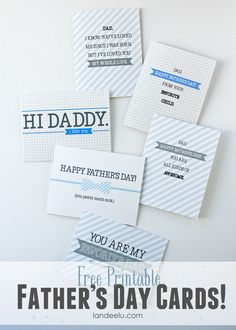 Free Printable Father's Day Cards-- cute and funny ones to choose from!