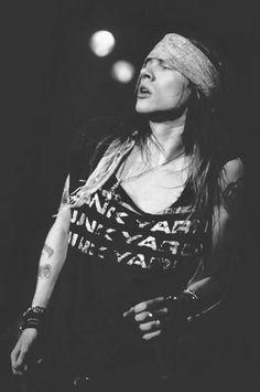 Axl Rose - Guns N' Roses / Black & White Photography
