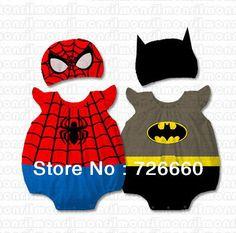 Baby Infant Boys Girls Cartoon Animal 100% Cotton Costume Bodysuit Outfit Romper Clothes Set Spider man Batman Minnie Designs $9.99