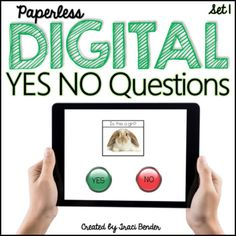 INTERACTIVE Digital self-correcting Yes/No Questions {NO Prep}
