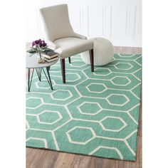 nuLOOM Handmade Modern Indoor/ Outdoor Trellis Teal Rug (9' x 12') - Overstock Shopping - Great Deals on Nuloom 7x9 - 10x14 Rugs