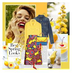 """""""Yellow is my happy color."""" by rainie-minnie ❤ liked on Polyvore featuring Oris, H&M, Yves Saint Laurent, Balmain, House of Holland, Dolce&Gabbana and Jimmy Choo"""