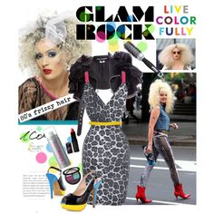 Glam Rock 80u0027s style  by bratatouille on Polyvore ?  sc 1 st  Pinterest & 34 best 80s rock / glam rock costume images on Pinterest | Rock ...