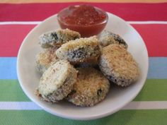 Baked Zucchini Coins on Weelicious